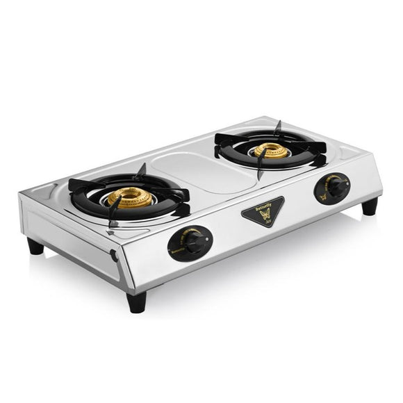 Butterfly Ace Stainless Steel Gas Stove, 2 Burner