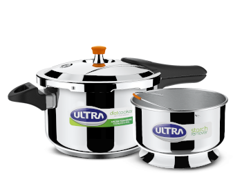 Ultra Diet Stainless Steel Pressure Cooker, 5.5 Litres