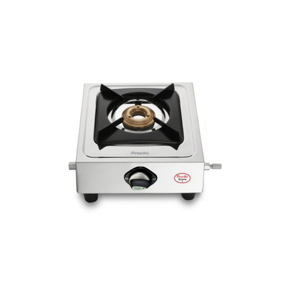 Preethi Strom Stainless Steel Gas Stove, 1 Burner