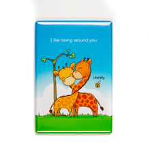 "Load image into Gallery viewer, I Like Being Around You Magnet (2"" x 3"")"