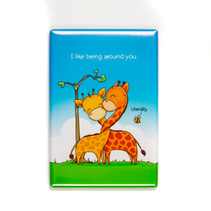 "I Like Being Around You Magnet (2"" x 3"")"