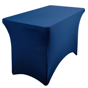 Stretch Fabric Table Cover, 4 ft. Table, 3 colors