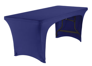 Stretch Fabric Table Cover, 6ft. Table, Open-sided, 2 Colors