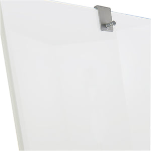 Clarity™  Glass Mobile Presentation White Board Easel