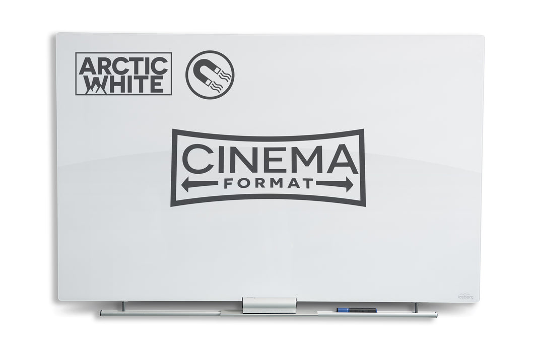 Clarity Glass Cinema Magnetic White Board, 4 sizes