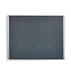 "Visionworks™ Beveled Edge Felt Bulletin Board, 36""x46"", Graphite."