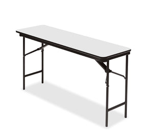 "Premium Laminate Folding Table, 18"" x 60"", 3 Finshes"
