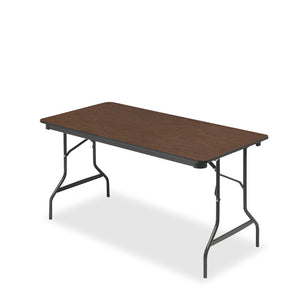 Economy Wood Laminate Folding Table, Walnut, Three Sizes