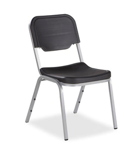 Rough 'N Ready 4-Pack Stack Chair, 3 Colors with Silver Frame