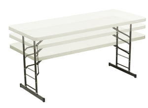 "IndestrucTable TOO Adjustable Height Folding Table, 30""x 72"", 3 Colors"