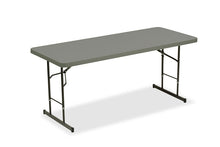 "IndestrucTable® Classic Adjustable Height Folding Table, 30""x 72"", 2 Colors"