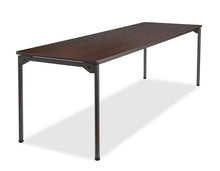 "Maxx Legroom Wood Folding Table, 30""x96"", 2 Colors"