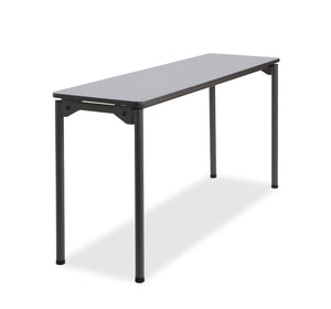 "Maxx Legroom Wood Folding Table, 18""x 60"", 2 Colors"
