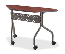 "OfficeWorks™ Mobile Training Table, 48"" Trapezoid, 2 finishes"