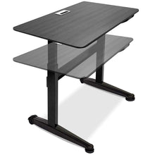 Air-powered Lift Adjustable Height 5 Foot Desk, 2 Finishes