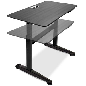 Air-powered Lift Adjustable Height 4 foot Desk, 2 Finishes