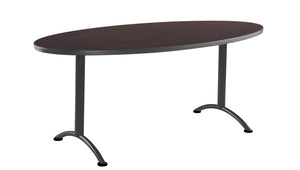 "ARC Fixed Height Oval Table, 36""x 72"", 3 Finishes"