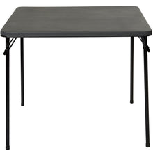 "IndestrucTable TOO™  Bi-Fold Card Table with Carrying Handle, 34"" Square, Black"