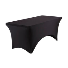 Stretch Fabric Table Cover, 6 ft. Table, 3 Colors