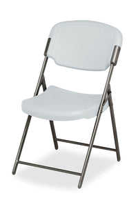 Iceberg Rough 'N Ready Premium 4-Pack Folding Chair, Platinum