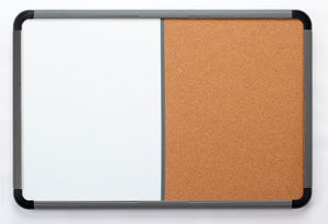 Ingenuity Combination White and Cork Board,  Charcoal, 3 sizes