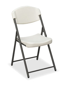 Rough N' Ready™ Economy Folding Chair, 4-pack, Platinum