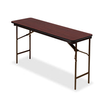 "OfficeWorks™ Commercial Wood Laminate Folding Table, 18"" x 60"", 3 Finishes"