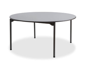 "Maxx Legroom™ Wood Folding Table, 60"" Round, Gray"