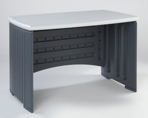 "Iceberg SnapEase Computer Desk, 46"" Length, Charcoal/Silver"
