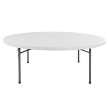 "IndestrucTable® Classic Folding Table, 78"" Round, Platinum Granite"