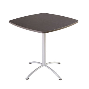 "iLand Edgeband Bistro Table, 42"" Square, 2 Finishes"