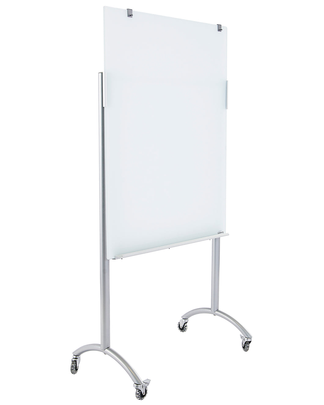 Clarity Glass Mobile Presentation White Board Easel