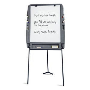 OfficeWorks™ Flipchart Easel with Whiteboard Dry Erase Surface, Charcoal
