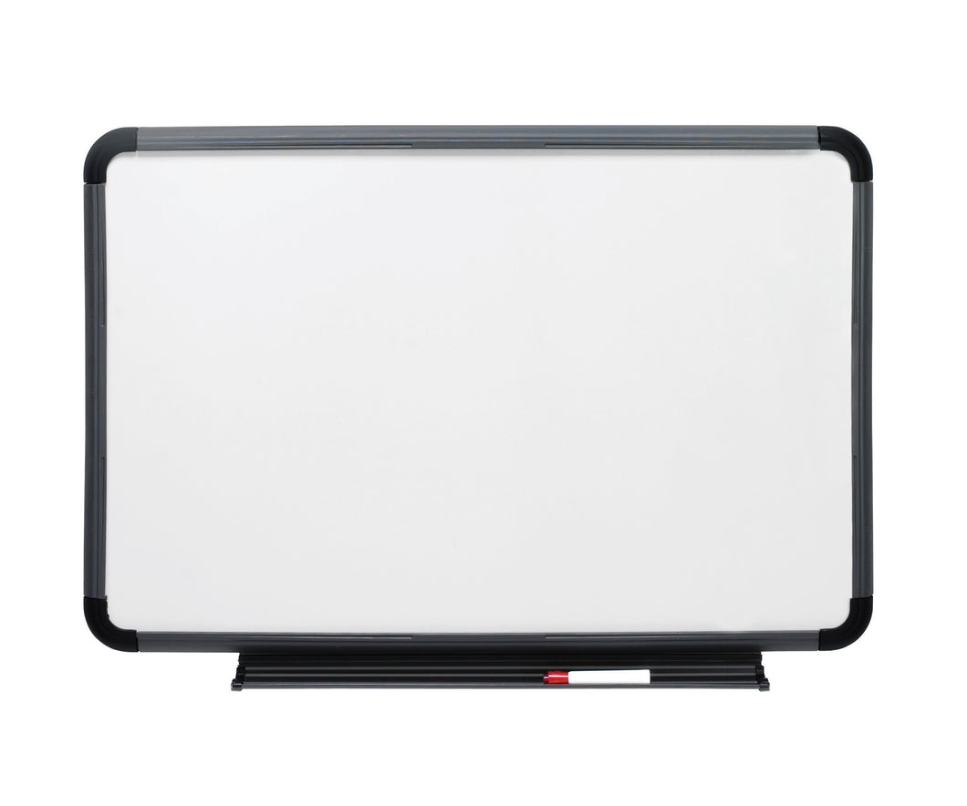 Ingenuity™ Dry Erase White Board with Marker Tray, Charcoal Frame, 3 sizes