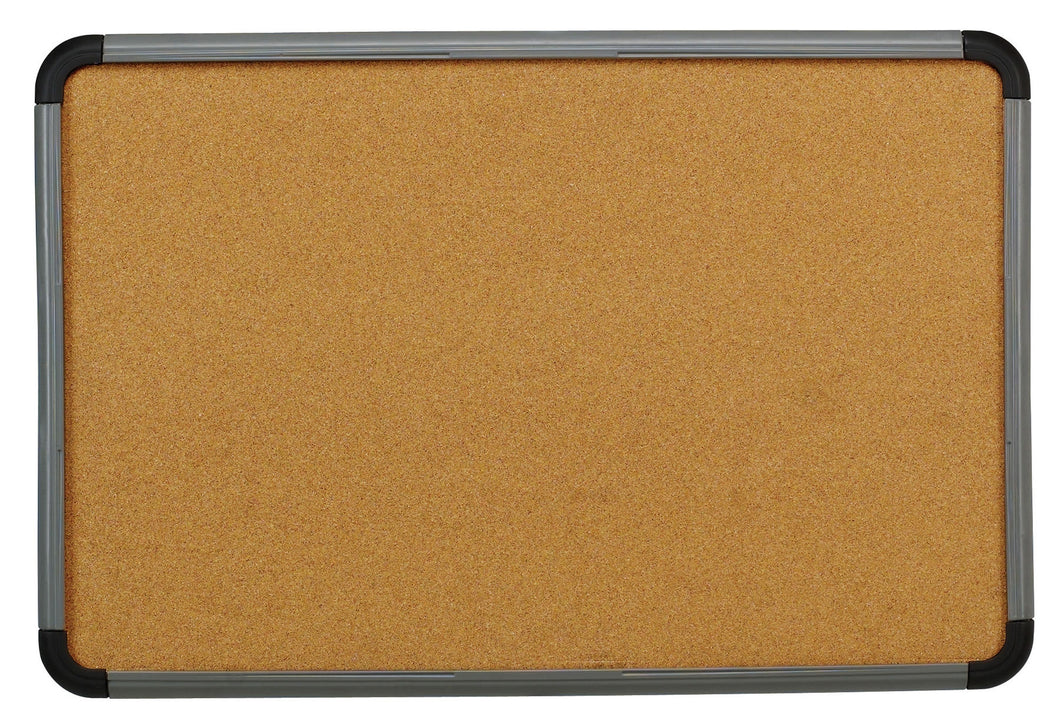 Ingenuity™ Cork Board, Charcoal frame, 3 sizes.