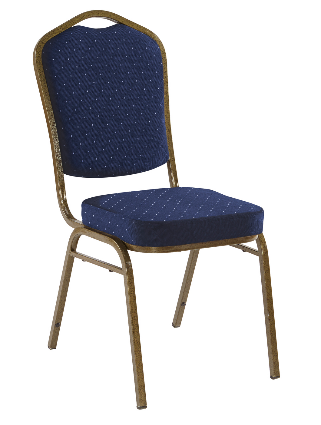 Banquet Chair, 4-Pack, Crown, Navy Pattern/Gold Vein Frame