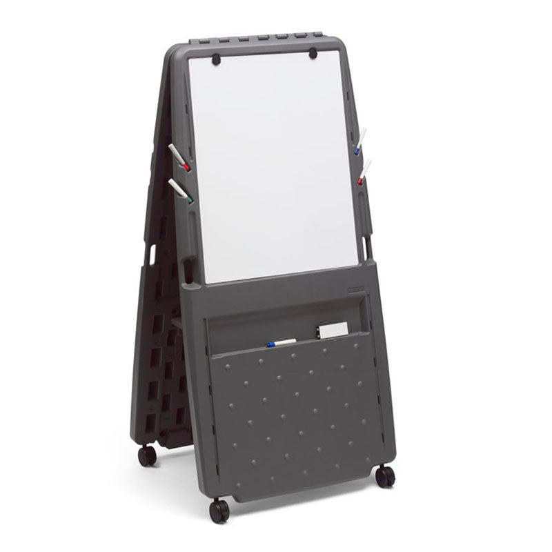 OfficeWorks™ Presentation Easel with Dry Erase Whiteboard Surface, Charcoal