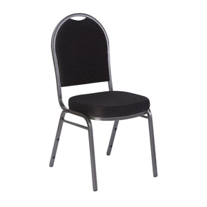 Banquet Chair, 4-Pack, Dome, Black Solid/Silver Vein Frame