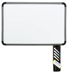 Ingenuity Dry Erase White Board with Marker Caddy, Charcoal Frame, 3 sizes