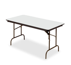 "Iceberg Premium Wood Laminate Folding Table, 30""x60"", Gray"