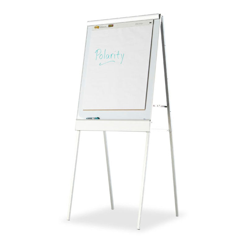 Polarity™ Adjustable Height, Magnetic,  Combination White Board and Flipchart Easel