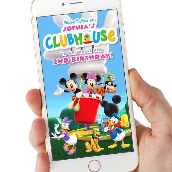 Mickey Mouse Clubhouse Video Invitation