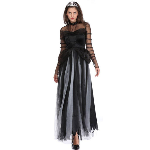 High Quality Scary Costume Ghost Bride Halloween Costume Sexy  Women Soft Dress Vampire Witch Cosplay Carnival Costume - Unitedzon