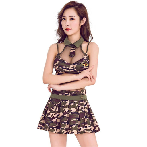 New Camouflage Suit Sexy Perspective Camouflage Army Costumes Sex Cosplay Role-playing Fun Police Underwear Uniforms - Unitedzon