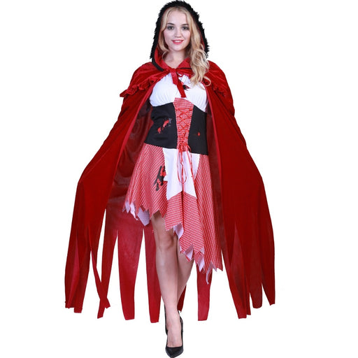 Adult Women High Quality sexy dress Halloween Little Red Riding Hood costume princess dress dress cloak Bar Game Cosplay costume - Unitedzon
