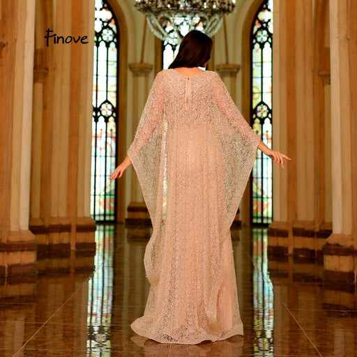 Champagne Vintage Mermaid Evening Dress 2019 New Arrivals Pearls Embroidery Dress With Cloak Elegant Woman Party Dress - Unitedzon