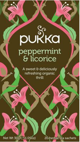 Pukka Te - Peppermint & Licorice tea - ØKO