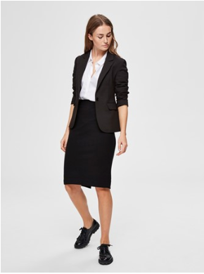 Selected Femme - Black pencil skirt