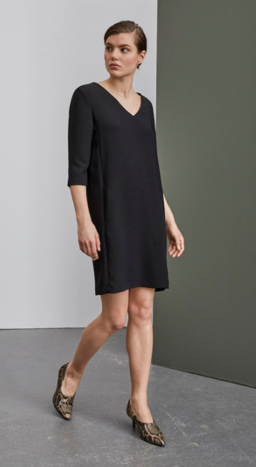 Selected Femme - 3/4 Smile black dress