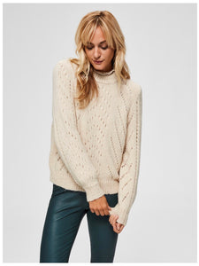 Selected Femme - hul striks pull over